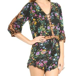 Spell & the Gypsy Gypsy Queen Black Romper Sz XS